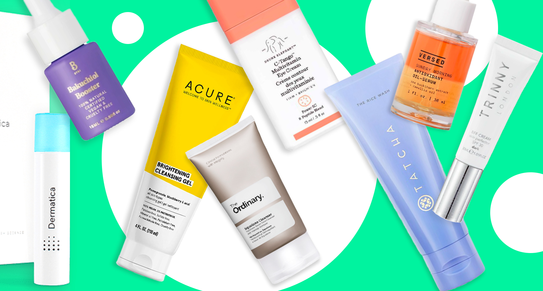 Beauty products in a beauty insight and trends blog