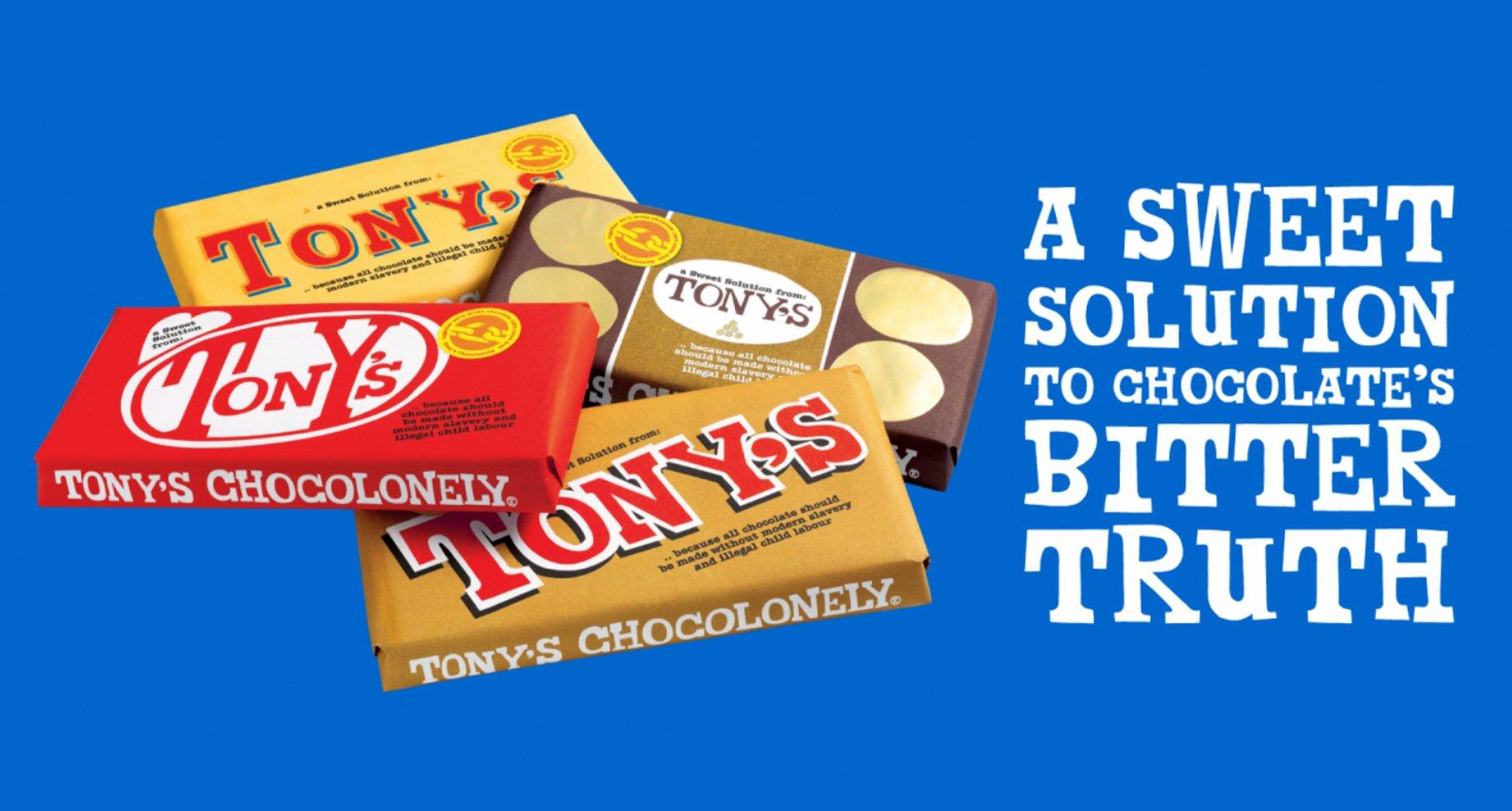 Chocolate brand Tony's Chocolonely advertisement World Chocolate Day