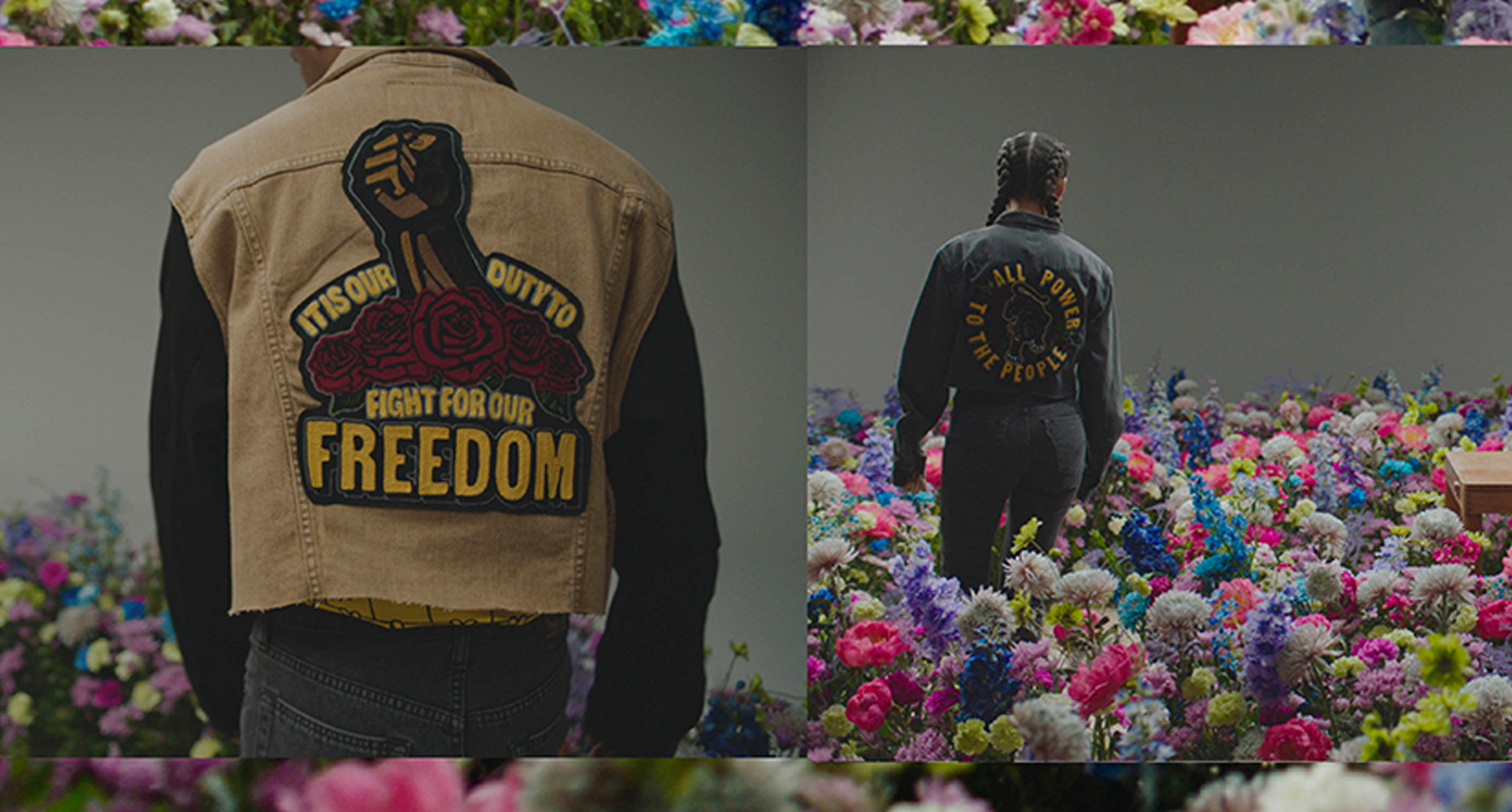 Brand Levi's Beauty of Becoming marketing campaign, with FrescoSteez clothing supporting Black Lives Matter