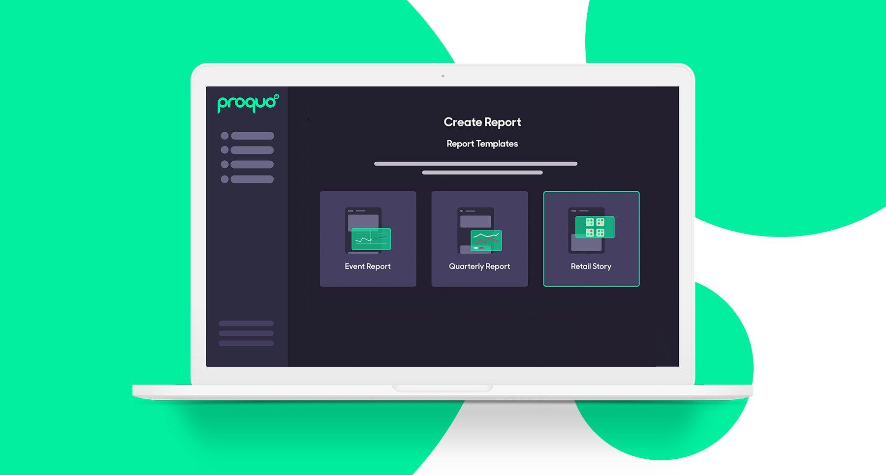 ProQuo AI platform on desktop using brand reporting feature