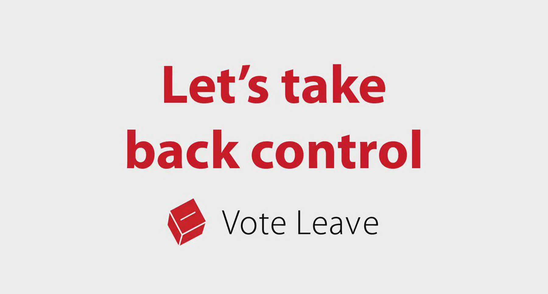 Brand storytelling by Brexit's 'Leave' marketing campaign