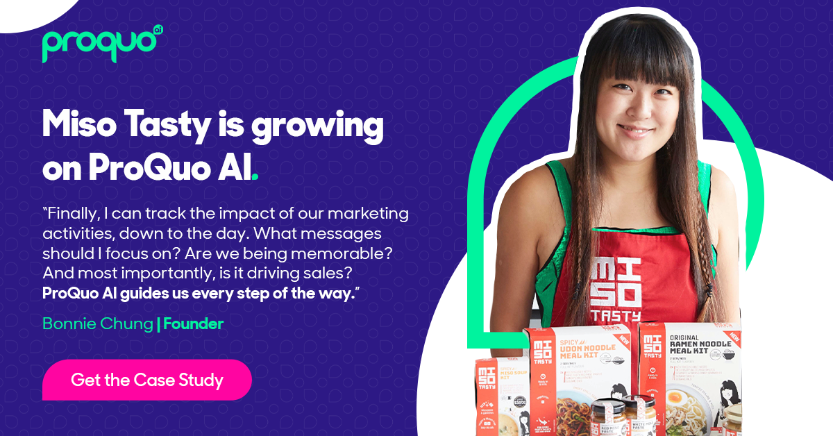 Miso Tasty using ProQuo AI to prove importance of 'brand' in commercial performance
