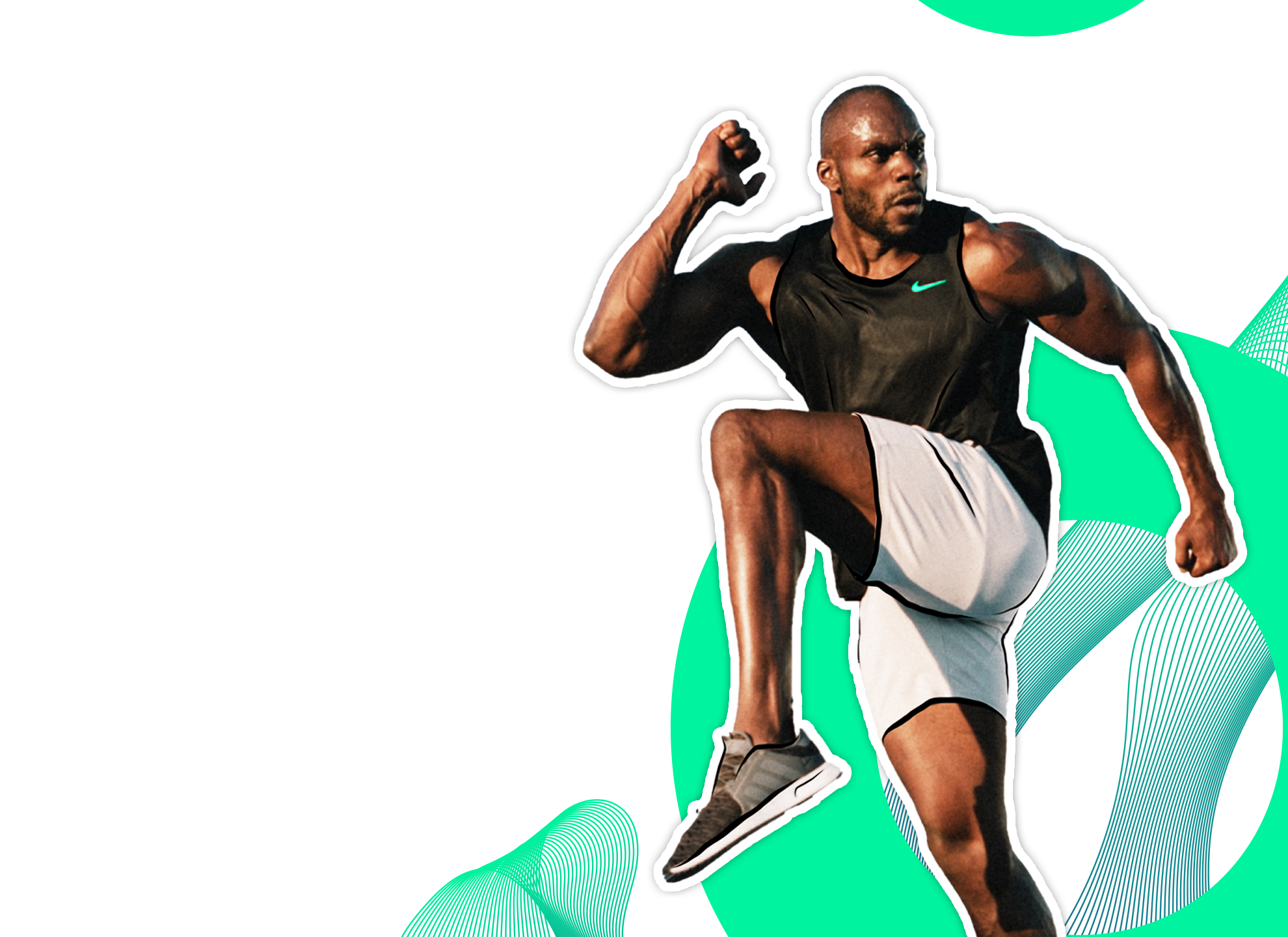 "alt=""Athletic male runner in high performance running gear"""