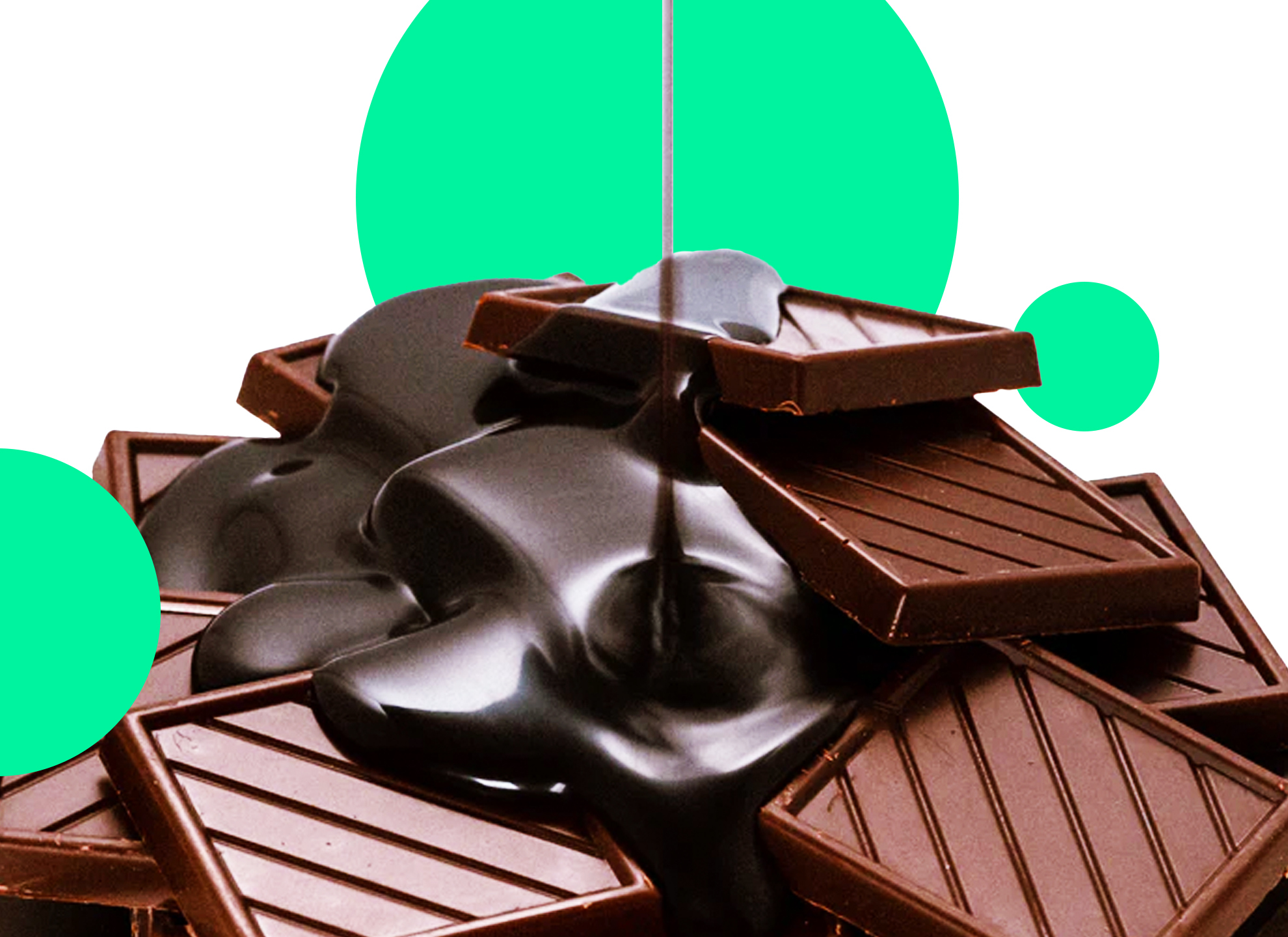 Pile of chocolate successful brands on World Chocolate Day
