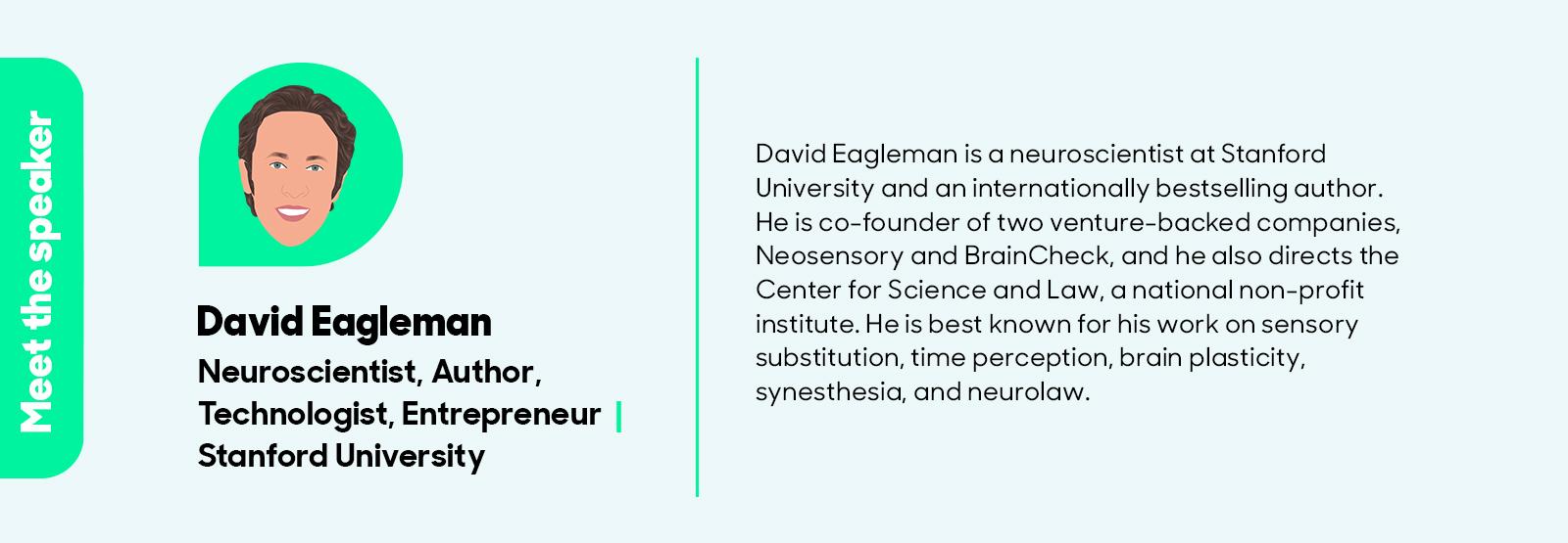 David Eagleman event - Invitation Page - Speaker Bios
