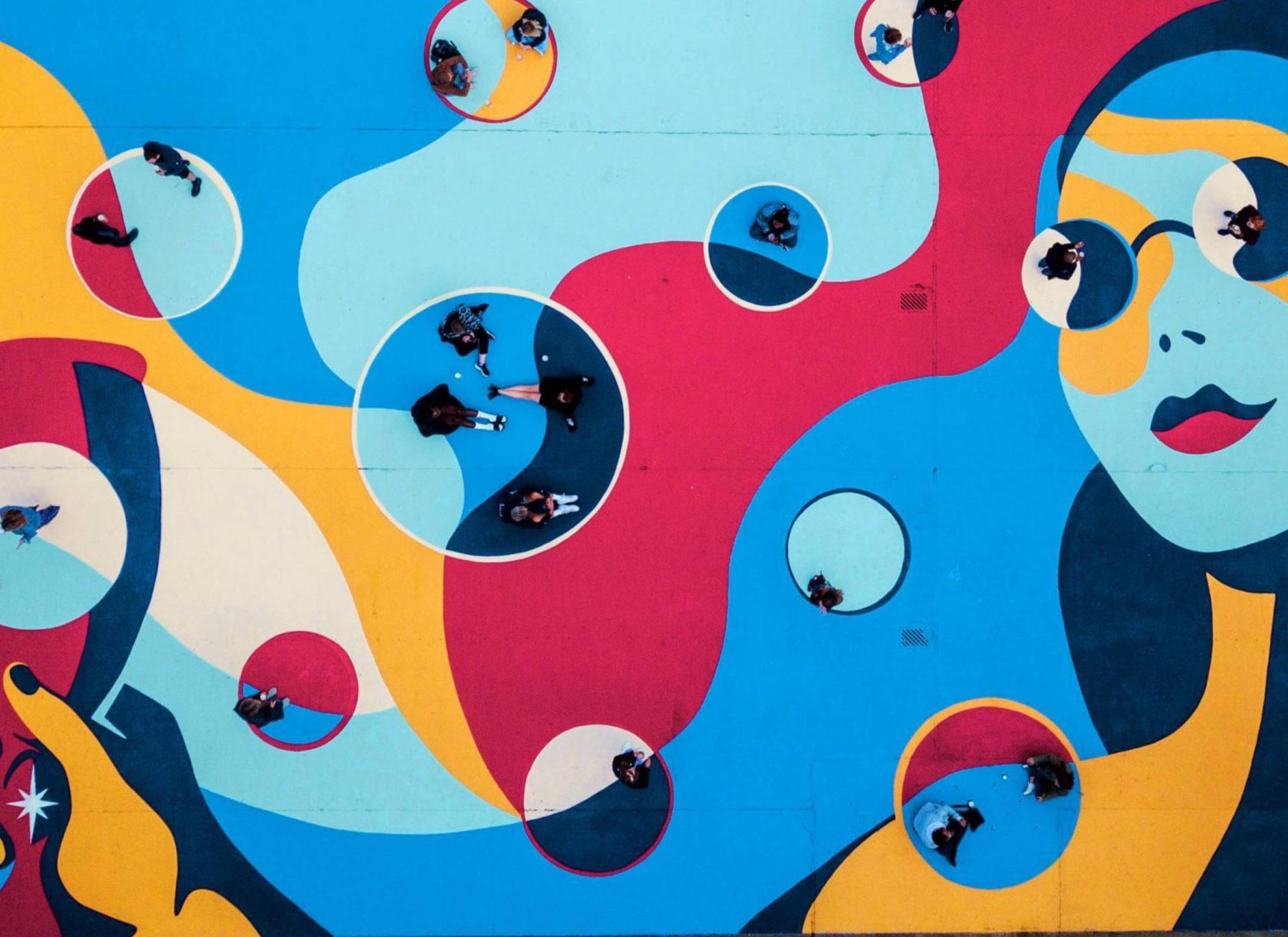 A Stella Artois street art marketing campaign by brand storytelling agency Mother