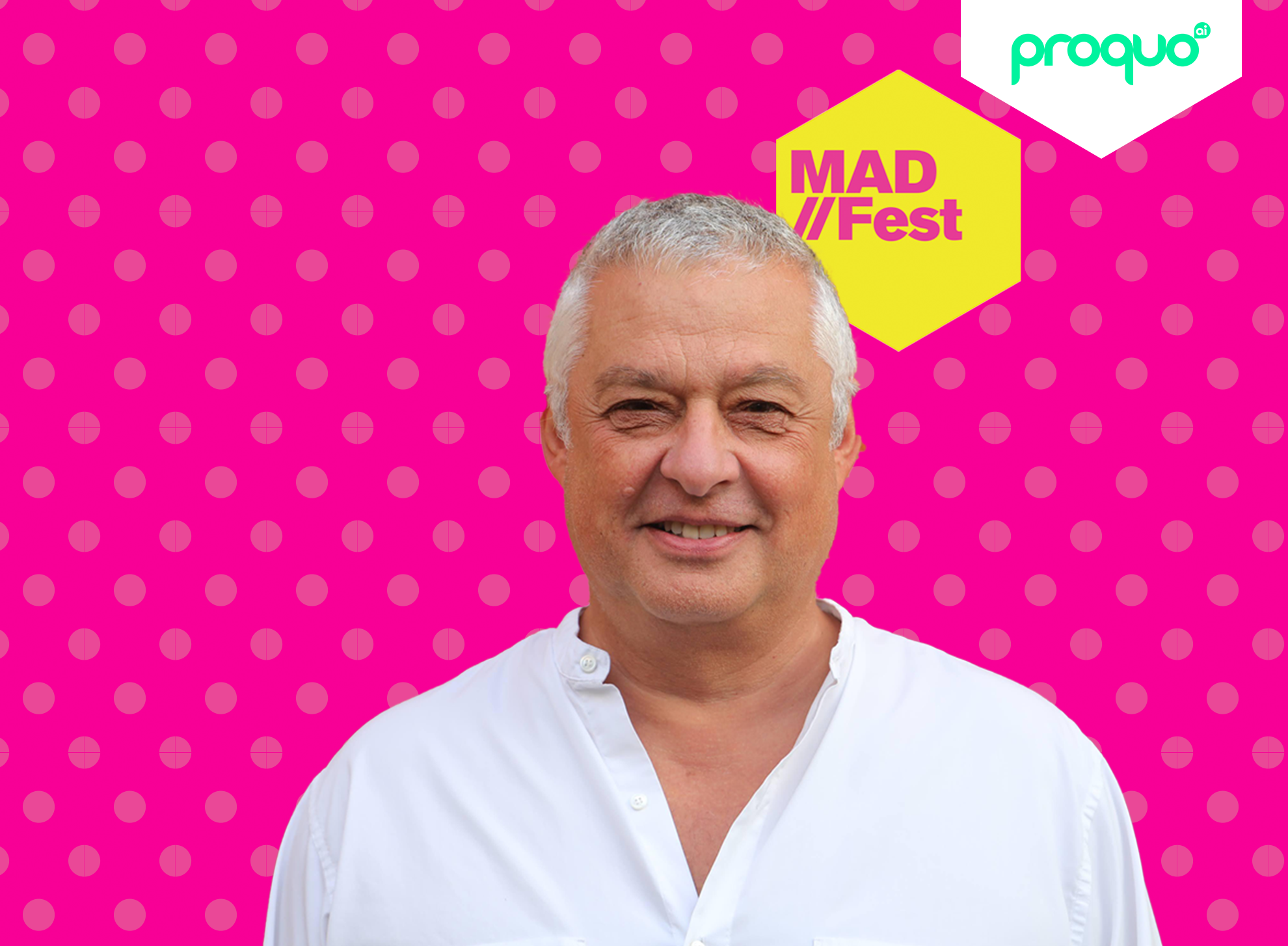 MADFest marketing festival advertisement featuring ProQuo AI's CEO