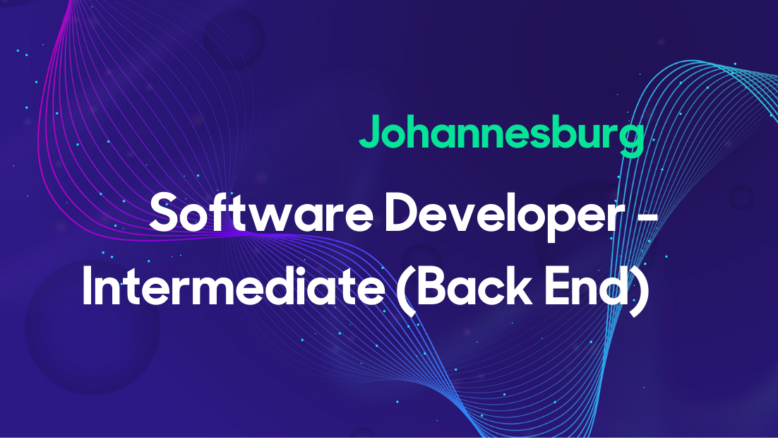 Software Developer - Intermediate (Back End) - SA Thumbnail