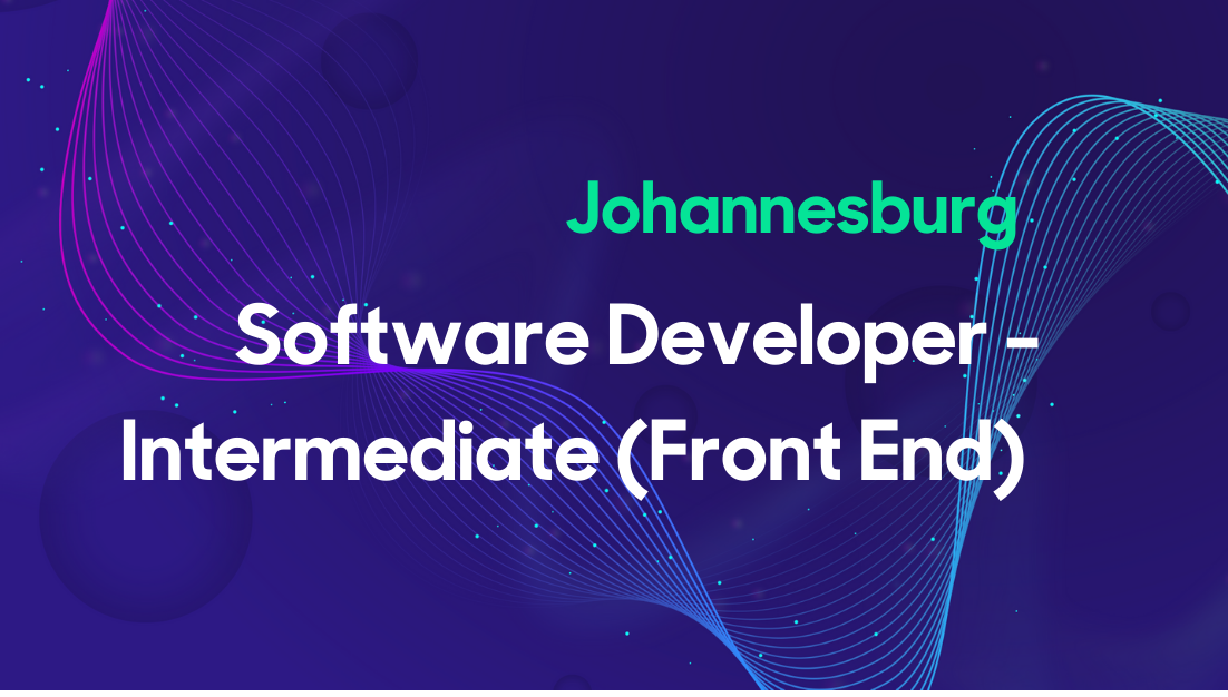 Software Developer - Intermediate (Front-End) - SA Thumbnail