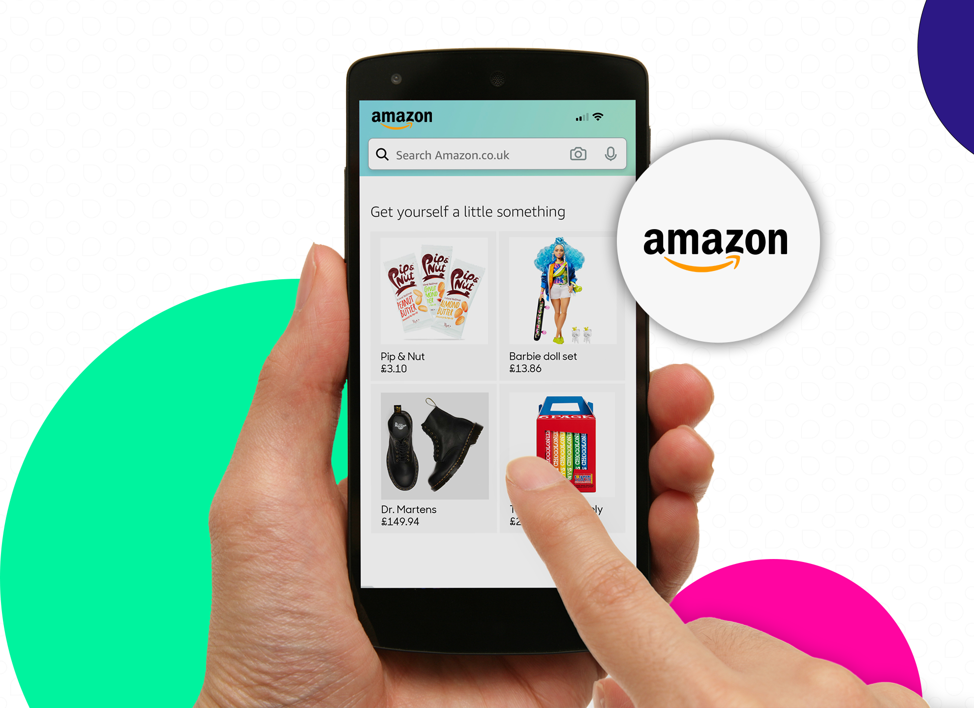 amazon webpage, someone browsing for brands